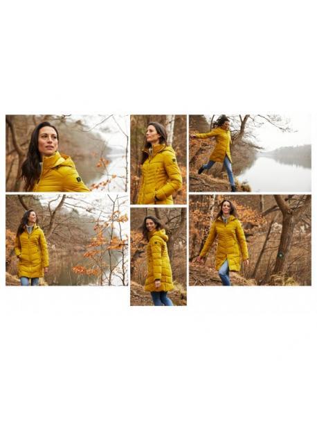 Dámský kabát Killtec KOW 151 dark yellow